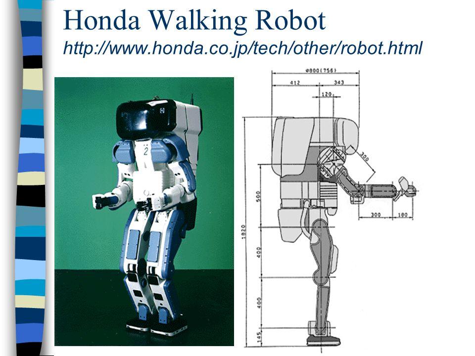 Honda Walking Robot http://www.honda.co.jp/tech/other/robot.html
