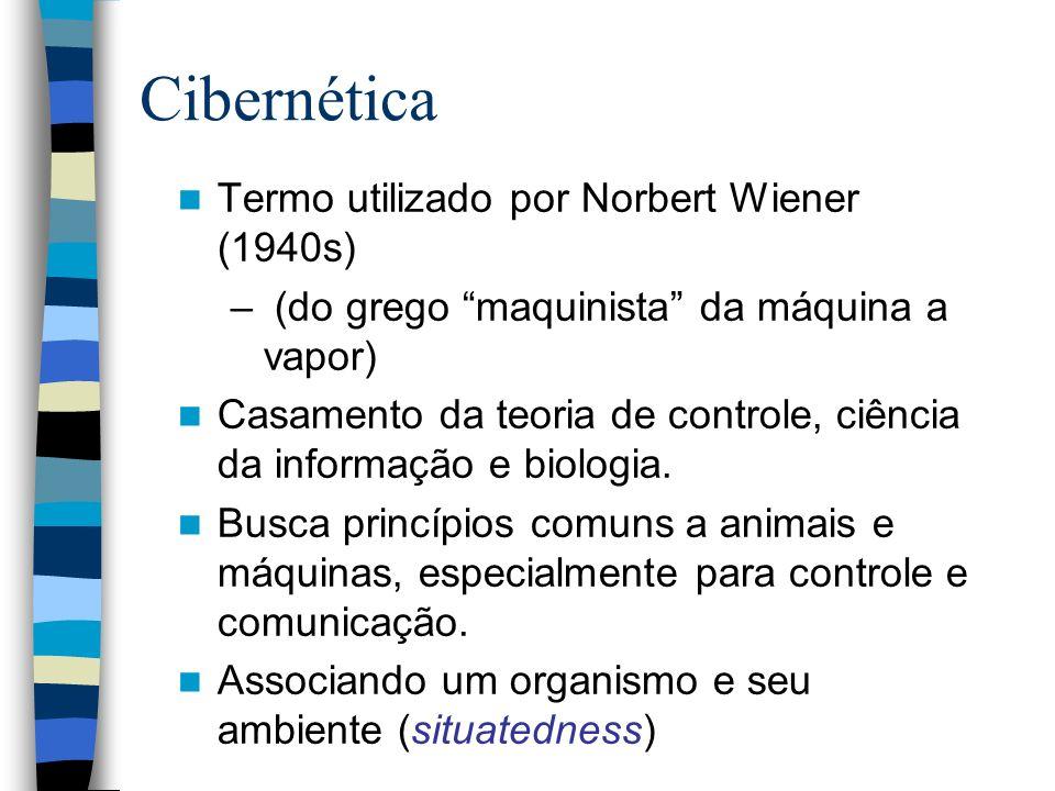 Cibernética Termo utilizado por Norbert Wiener (1940s)