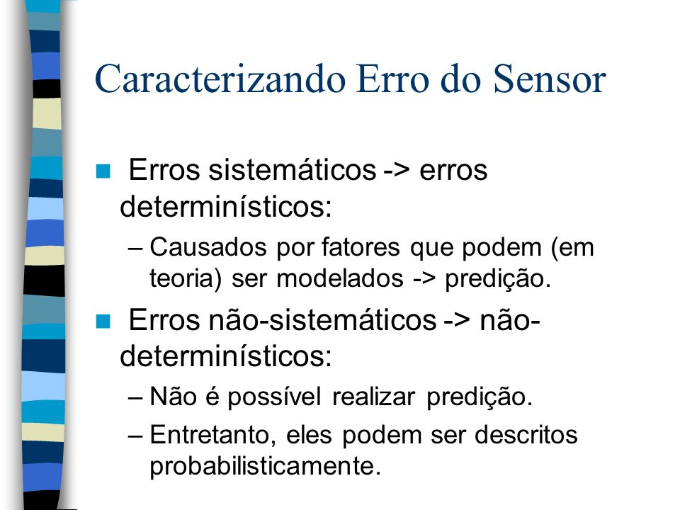 Caracterizando Erro do Sensor