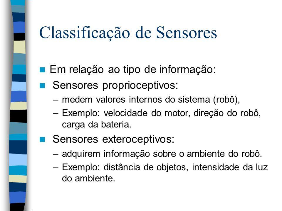Classificação de Sensores