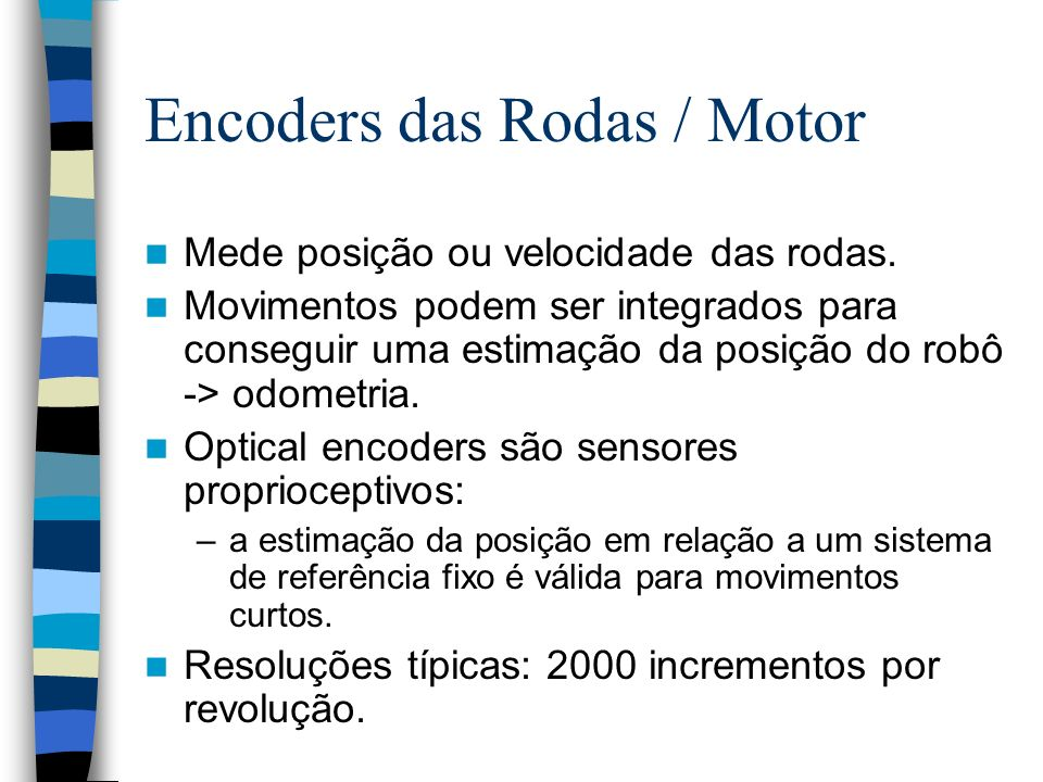 Encoders das Rodas / Motor