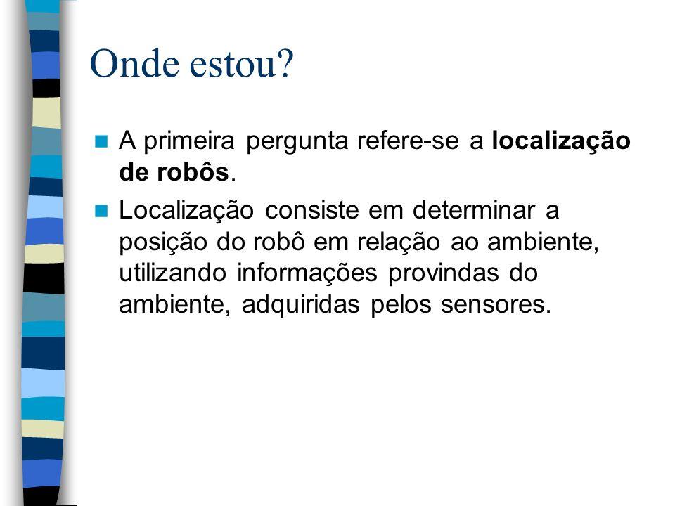 Onde estou A primeira pergunta refere-se a localização de robôs.