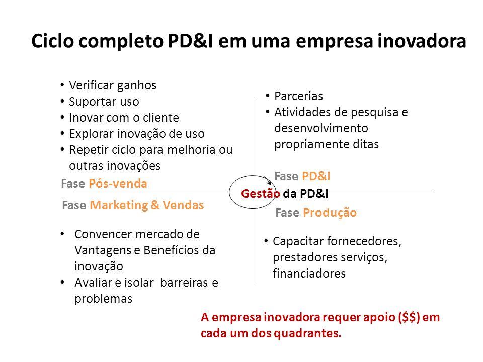 Ciclo completo PD&I em uma empresa inovadora