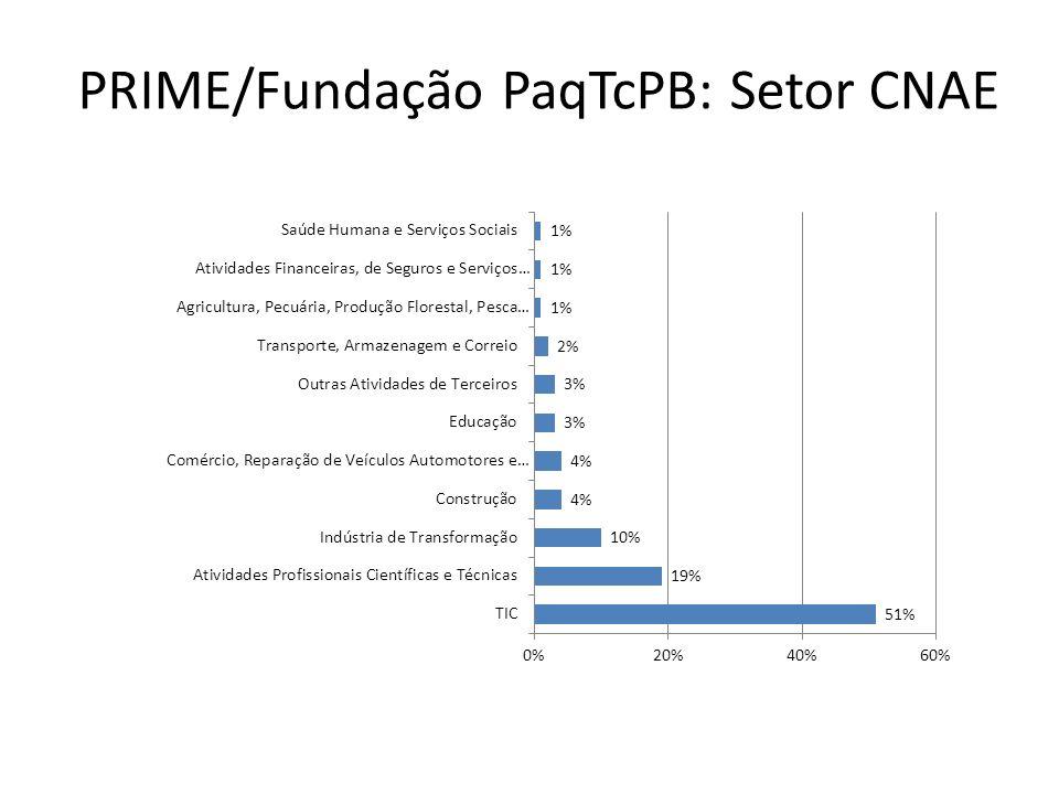 PRIME/Fundação PaqTcPB: Setor CNAE