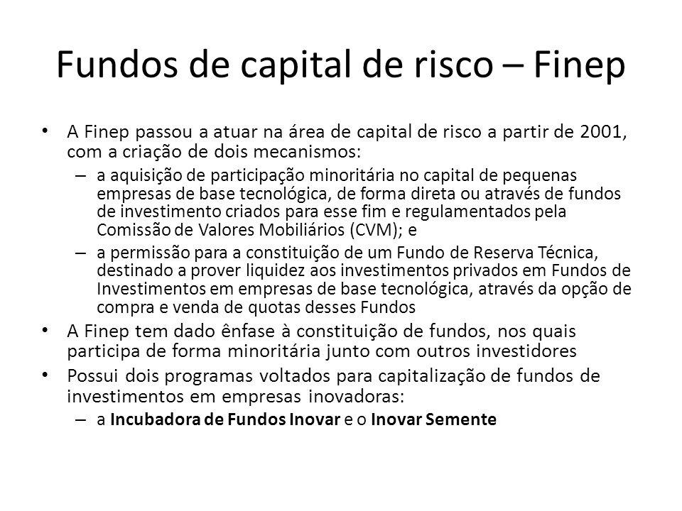 Fundos de capital de risco – Finep