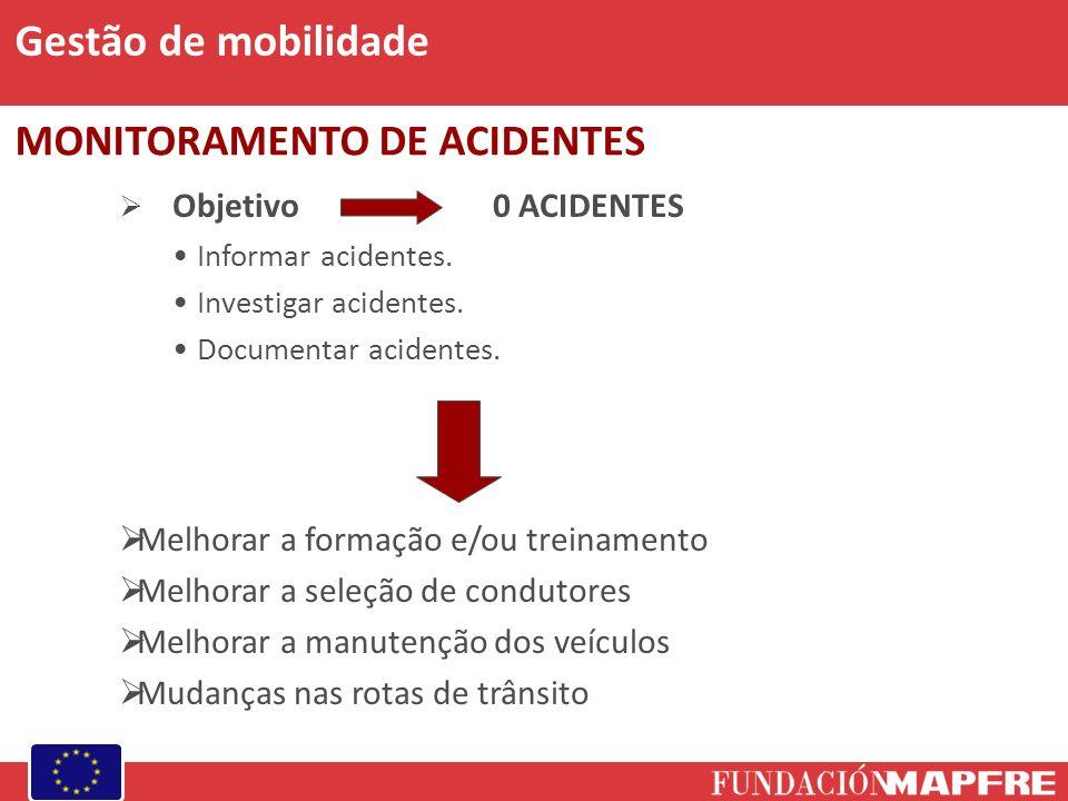 Gestão de mobilidade MONITORAMENTO DE ACIDENTES
