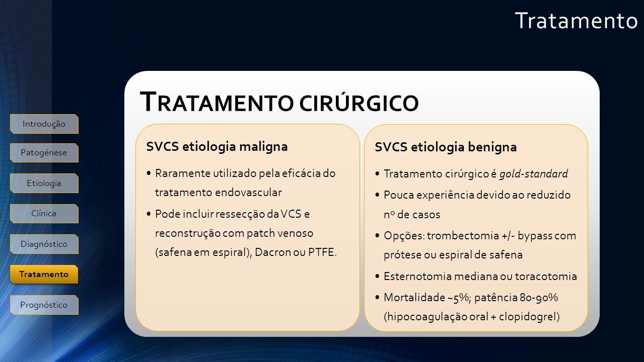 Tratamento cirúrgico Tratamento SVCS etiologia maligna