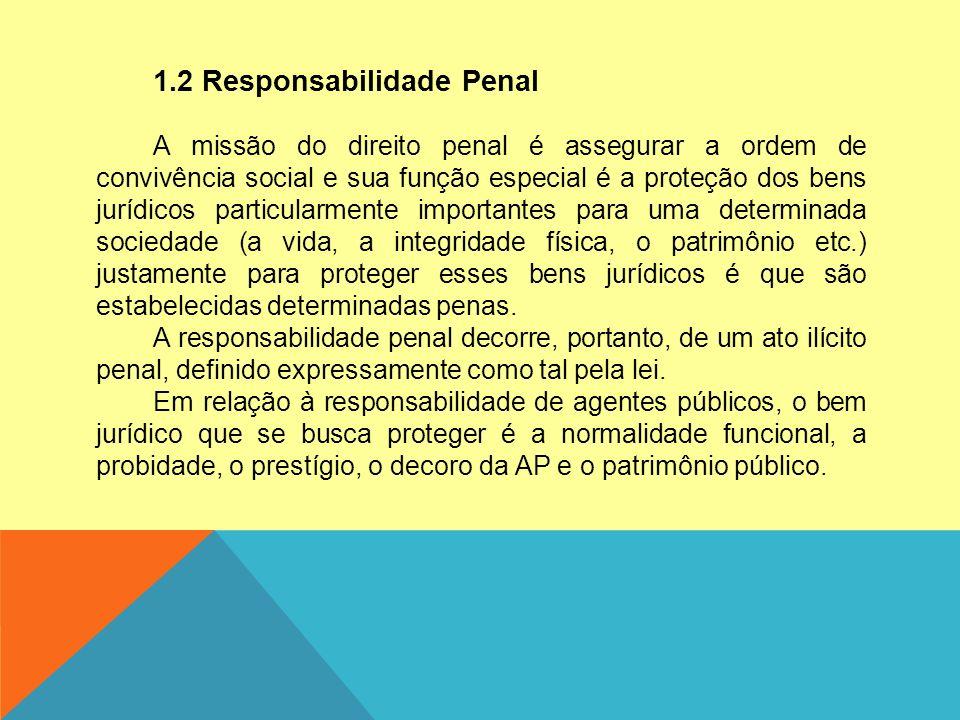 1.2 Responsabilidade Penal