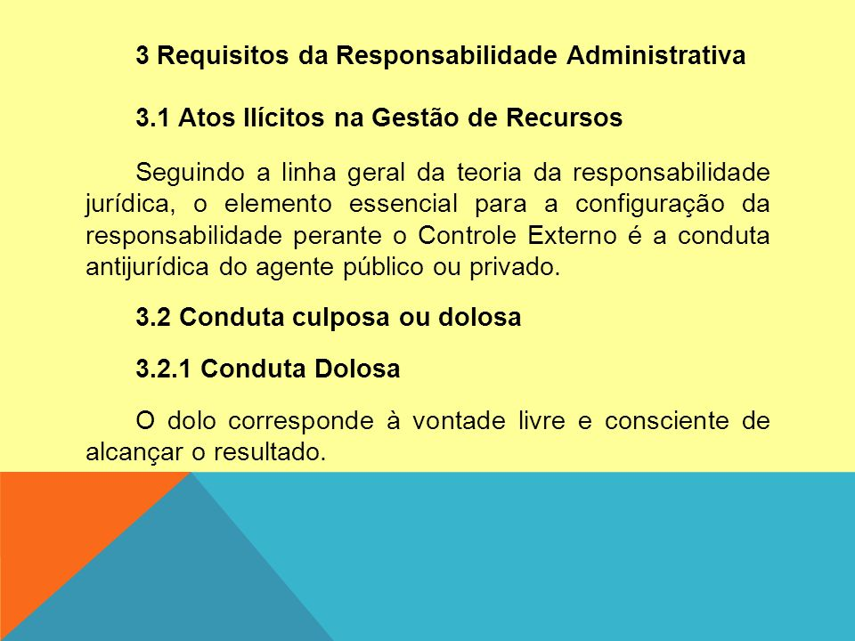 3 Requisitos da Responsabilidade Administrativa 3