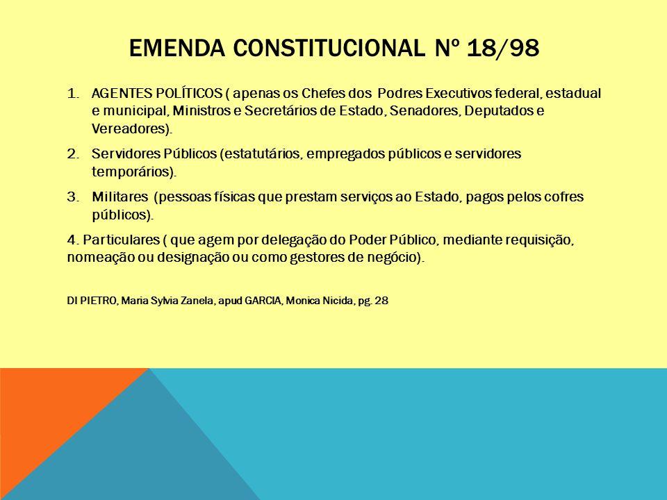 EMENDA CONSTITUCIONAL Nº 18/98