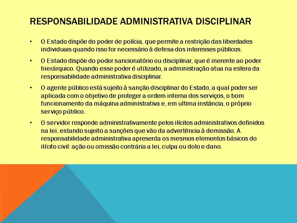 Responsabilidade administrativa disciplinar