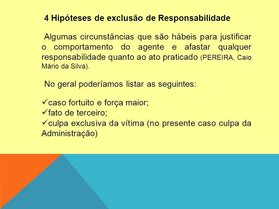 4 Hipóteses de exclusão de Responsabilidade