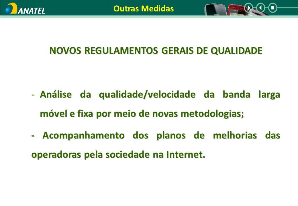 NOVOS REGULAMENTOS GERAIS DE QUALIDADE