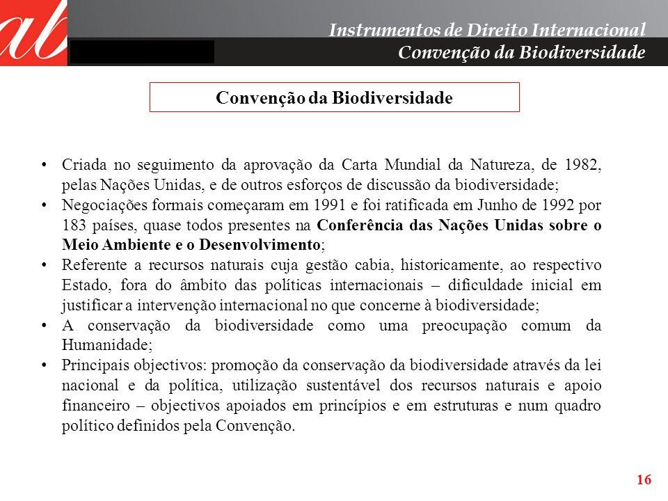 Convenção da Biodiversidade