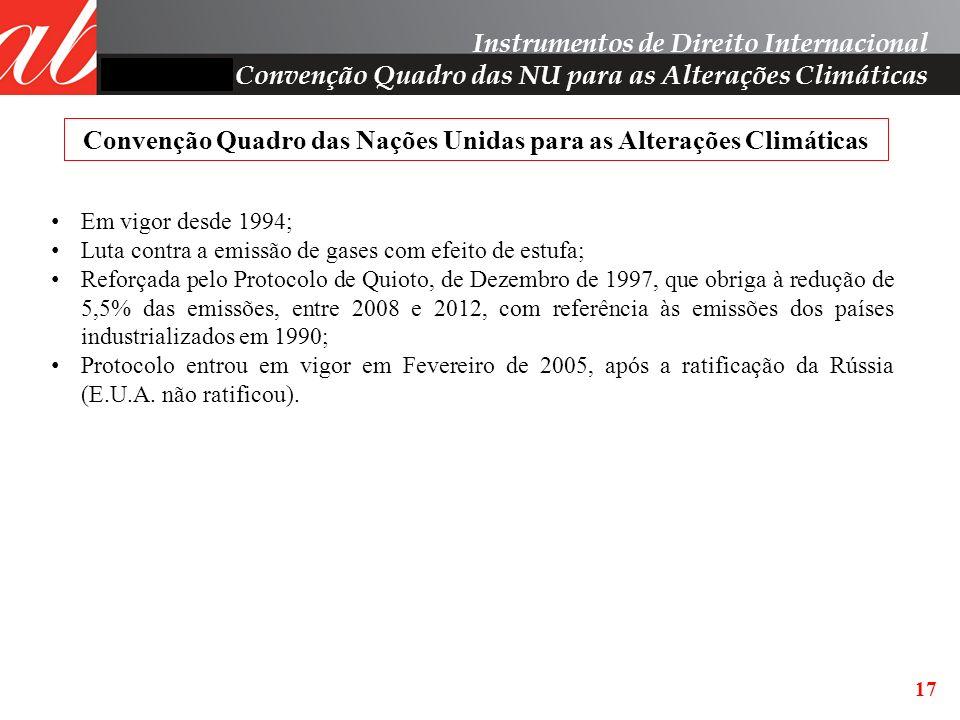 Convenção Quadro das Nações Unidas para as Alterações Climáticas