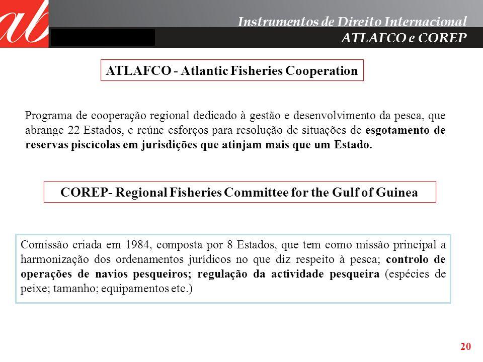 Instrumentos de Direito Internacional ATLAFCO e COREP