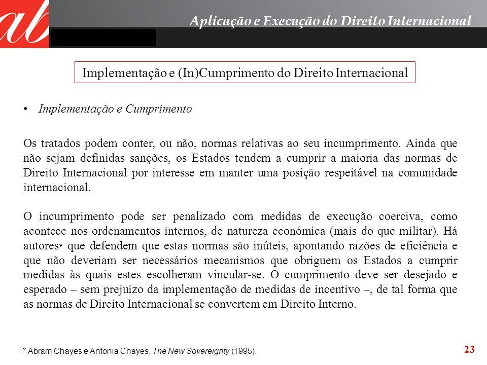Implementação e (In)Cumprimento do Direito Internacional