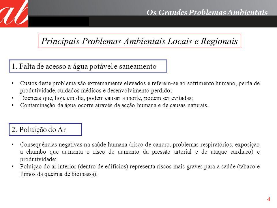 Principais Problemas Ambientais Locais e Regionais
