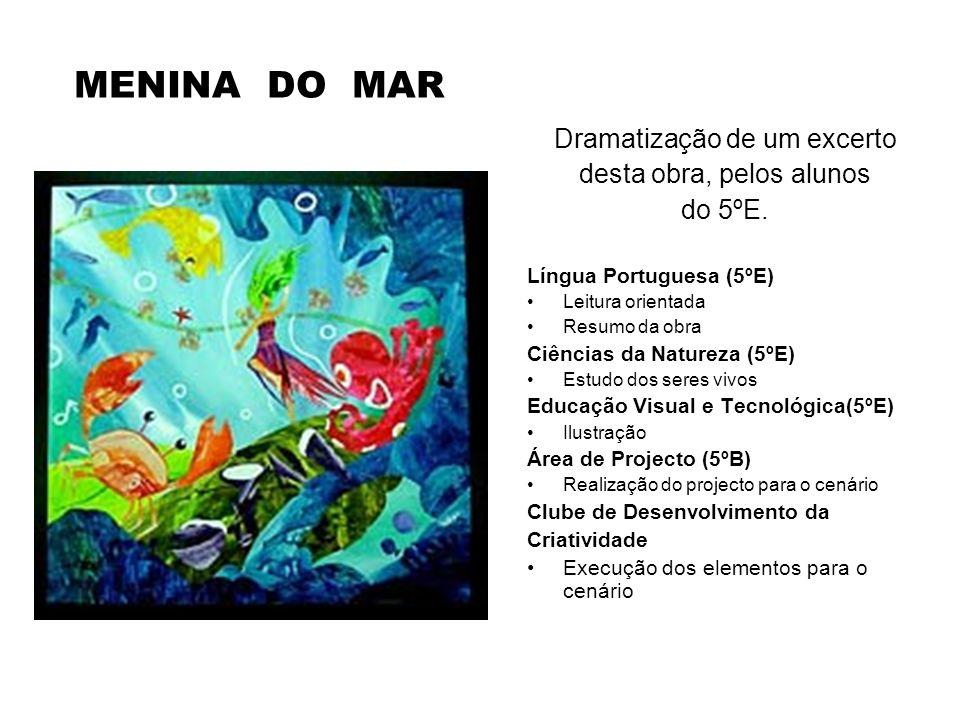 MENINA DO MAR Dramatização de um excerto desta obra, pelos alunos