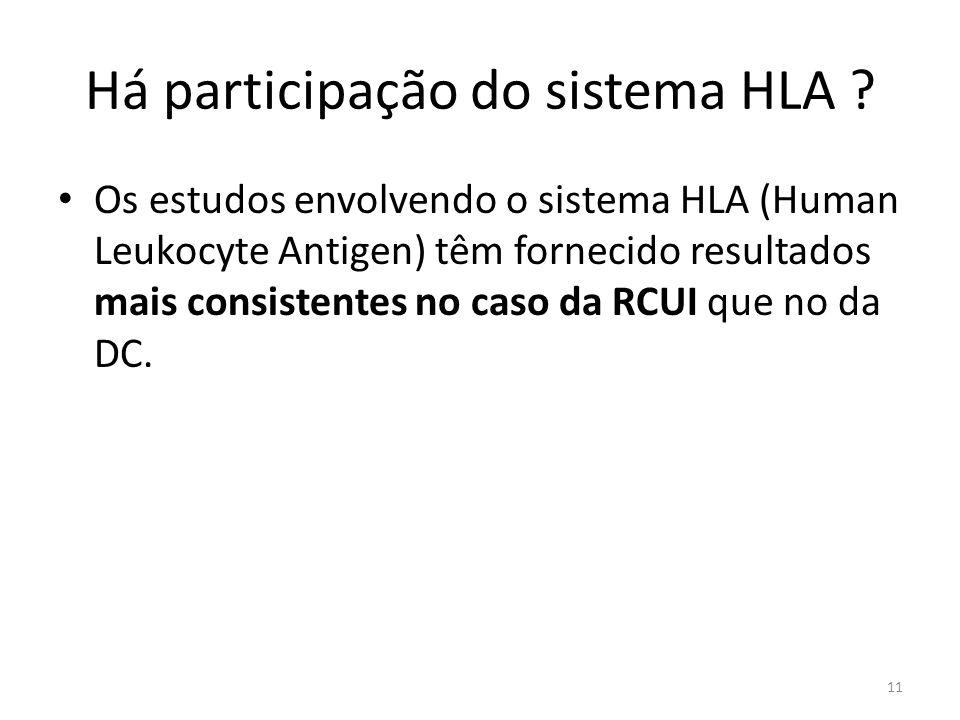 Há participação do sistema HLA