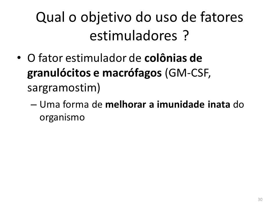 Qual o objetivo do uso de fatores estimuladores