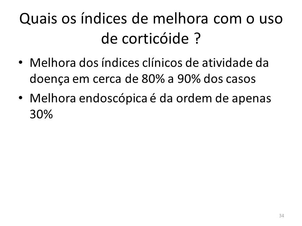 Quais os índices de melhora com o uso de corticóide
