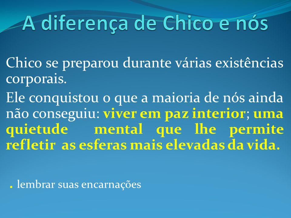 A diferença de Chico e nós
