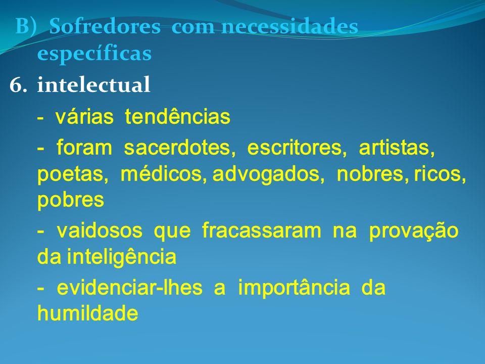 B) Sofredores com necessidades específicas 6. intelectual