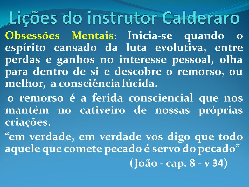 Lições do instrutor Calderaro