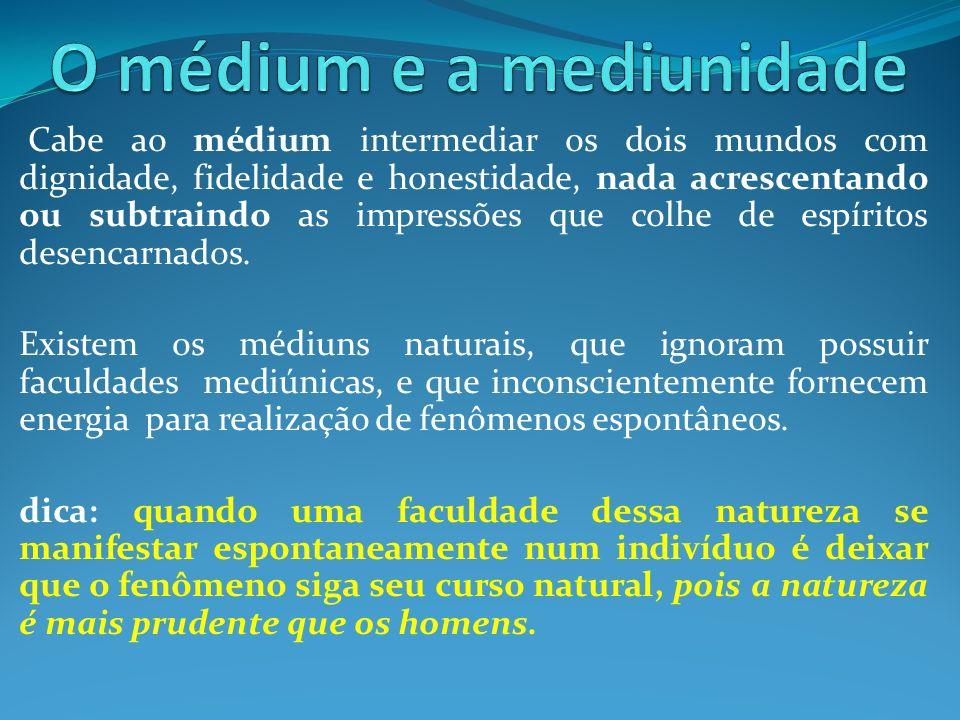 O médium e a mediunidade