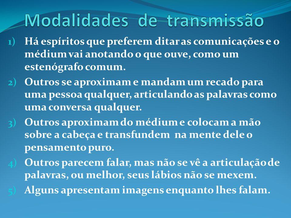 Modalidades de transmissão