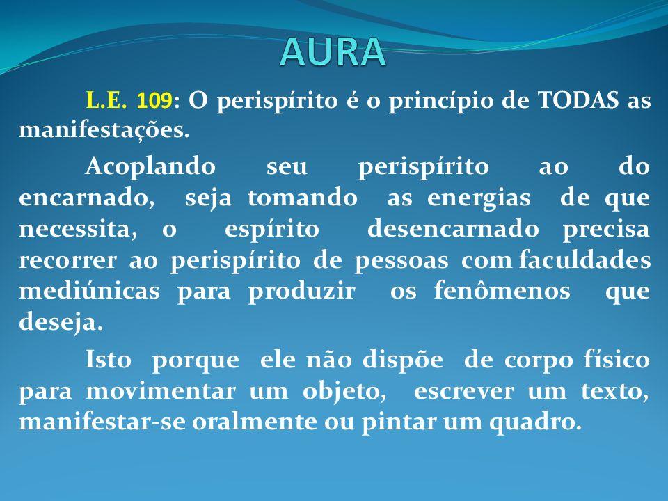 AURA L.E. 109: O perispírito é o princípio de TODAS as manifestações.