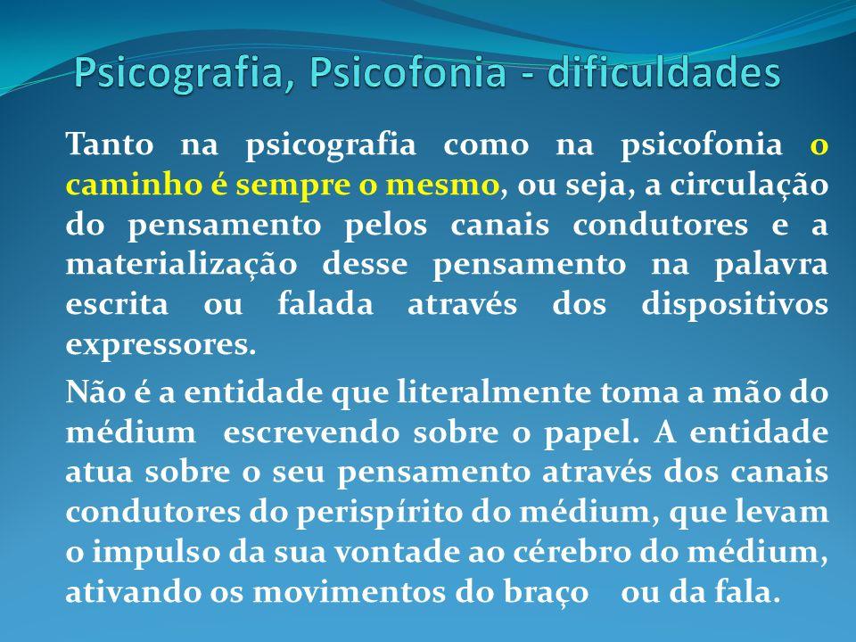 Psicografia, Psicofonia - dificuldades