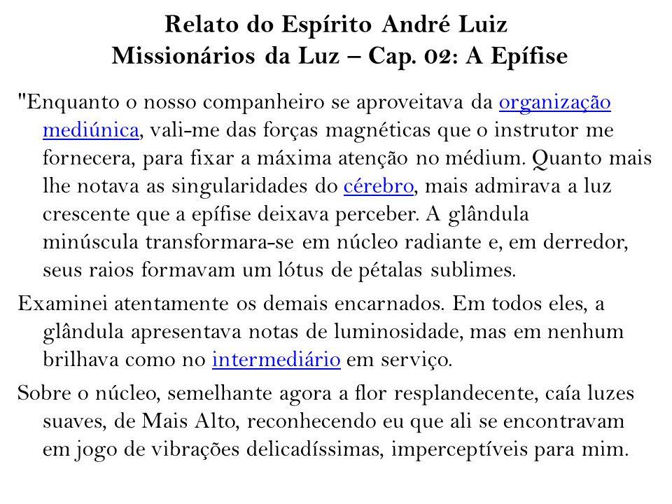 Relato do Espírito André Luiz Missionários da Luz – Cap. 02: A Epífise