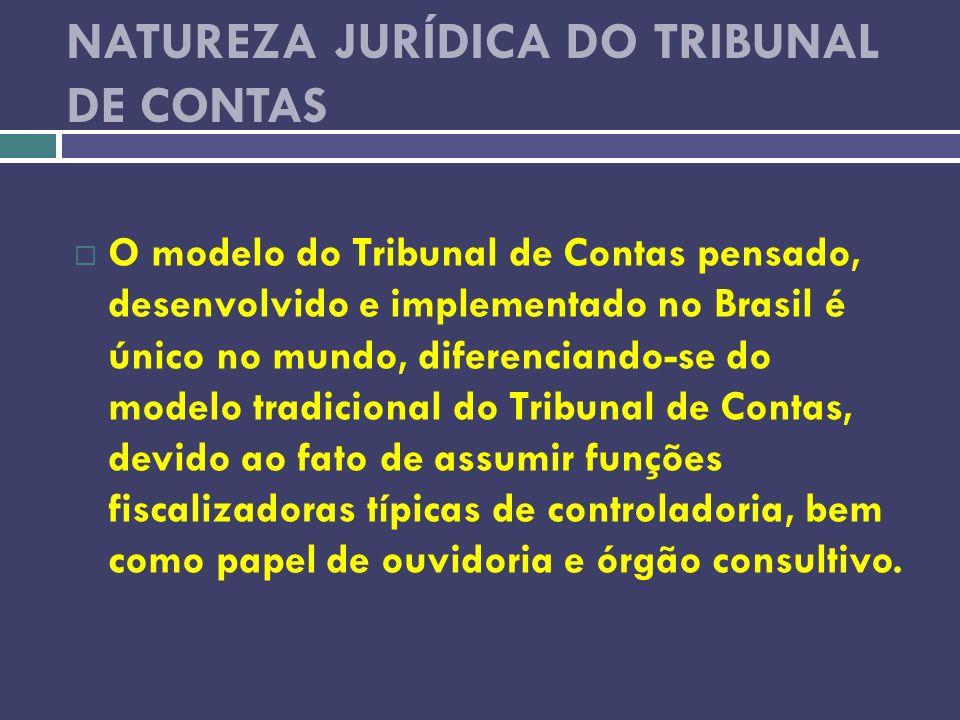 NATUREZA JURÍDICA DO TRIBUNAL DE CONTAS