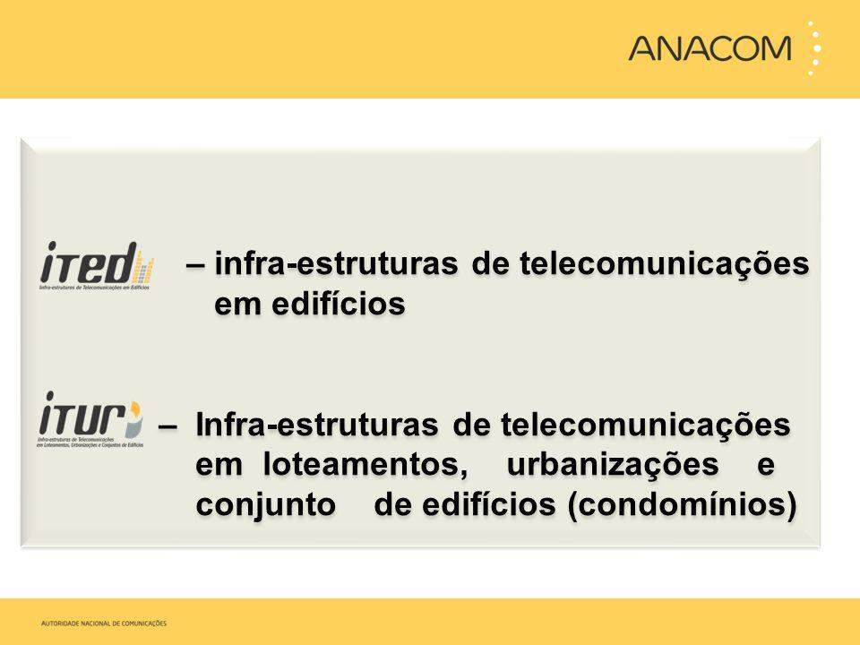 – infra-estruturas de telecomunicações