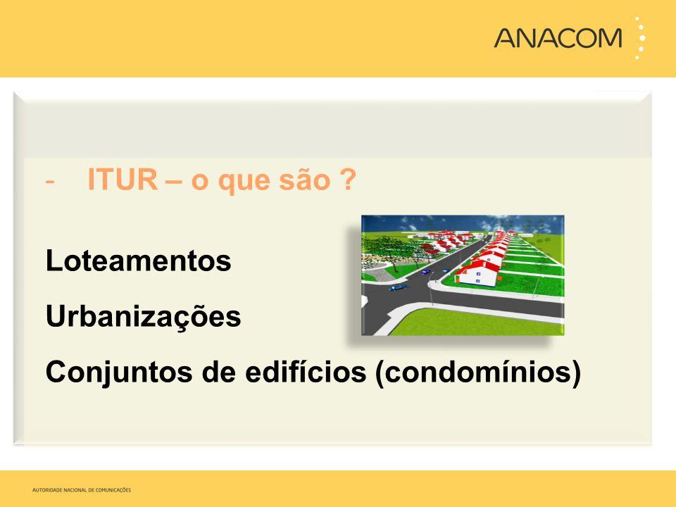 ITUR – o que são Loteamentos Urbanizações Conjuntos de edifícios (condomínios)
