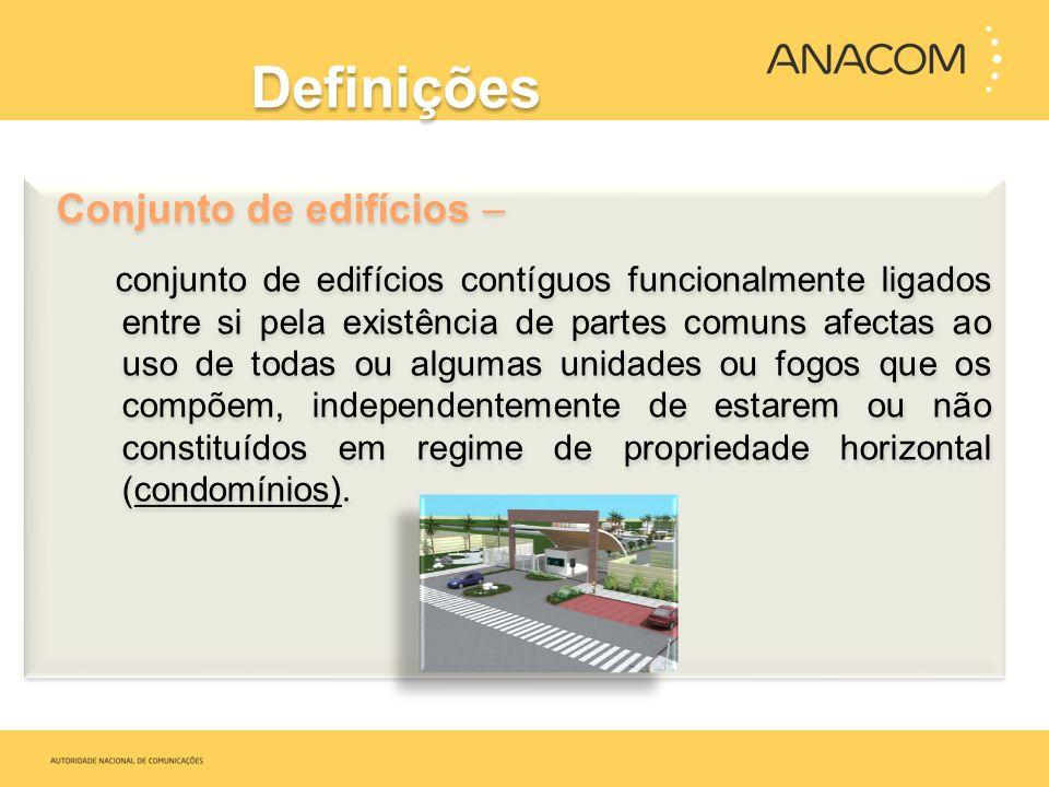 Definições Conjunto de edifícios –