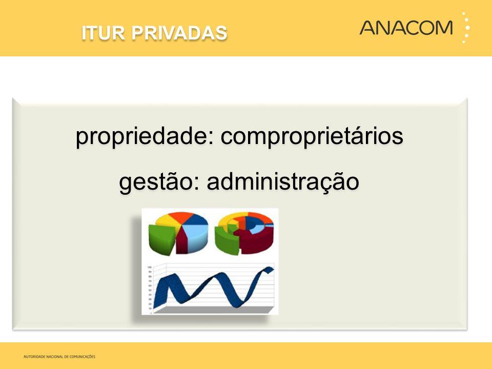 propriedade: comproprietários gestão: administração