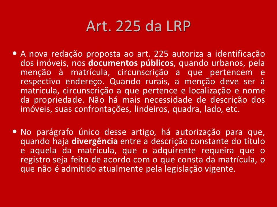 Art. 225 da LRP