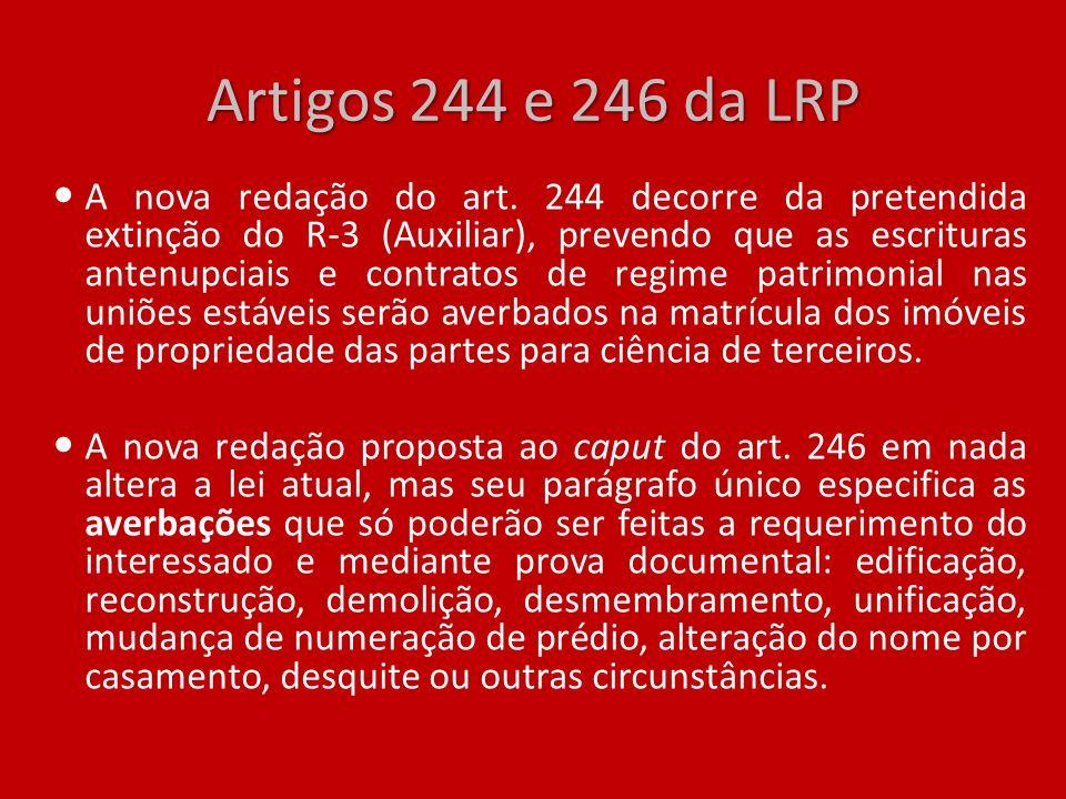 Artigos 244 e 246 da LRP