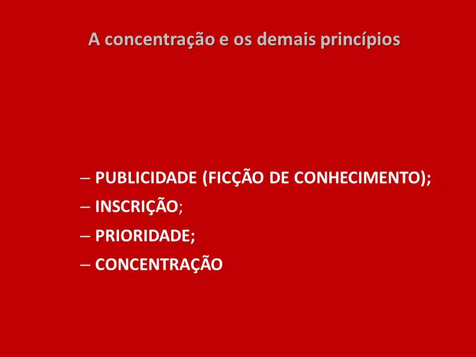 A concentração e os demais princípios