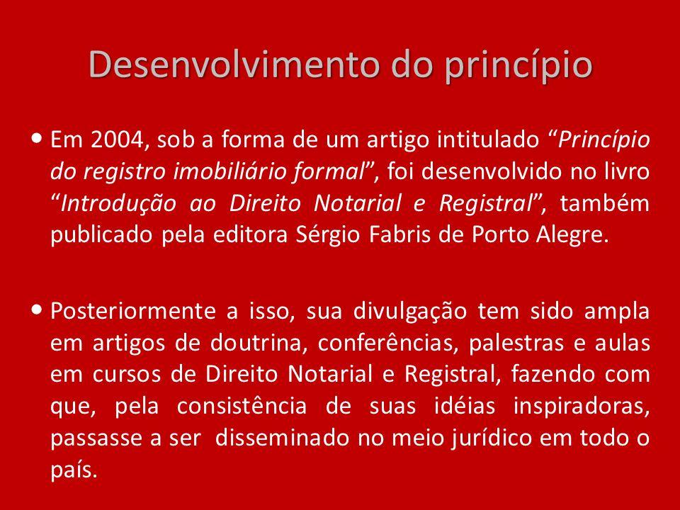 Desenvolvimento do princípio
