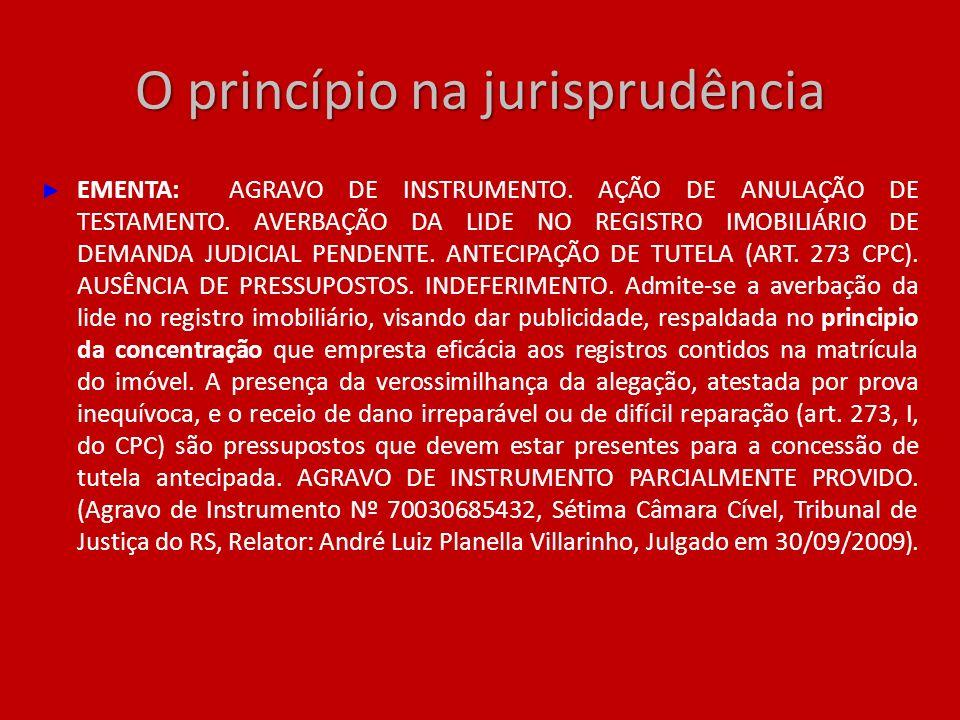 O princípio na jurisprudência