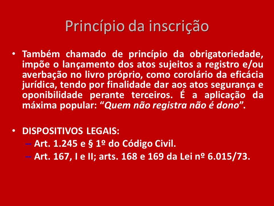 Princípio da inscrição