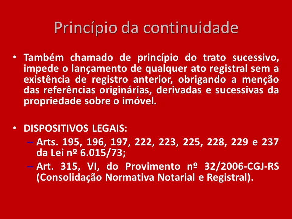 Princípio da continuidade