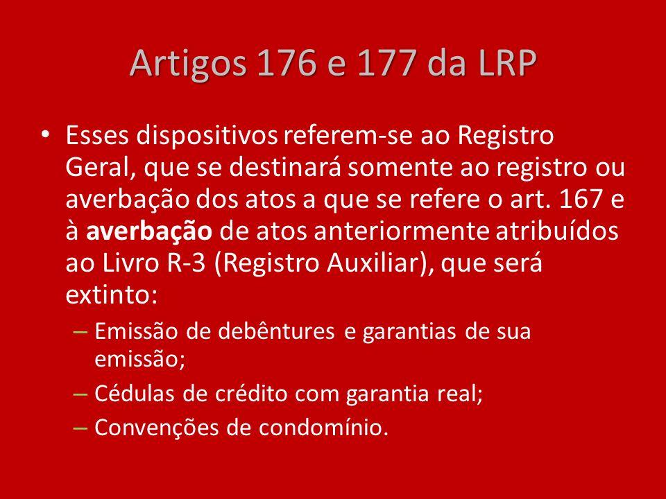 Artigos 176 e 177 da LRP