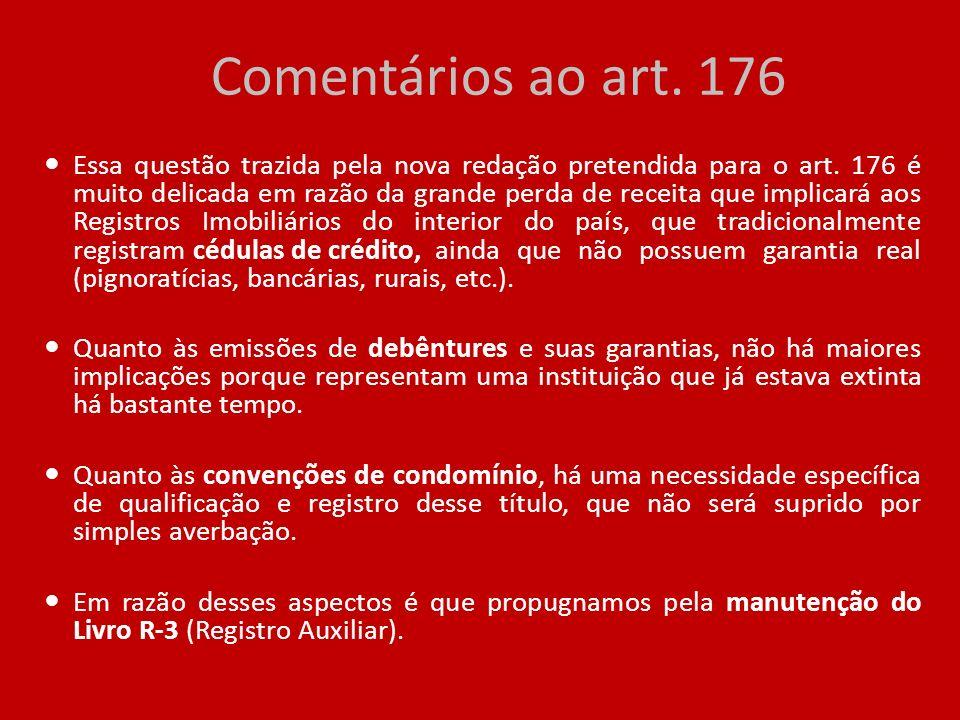 Comentários ao art. 176