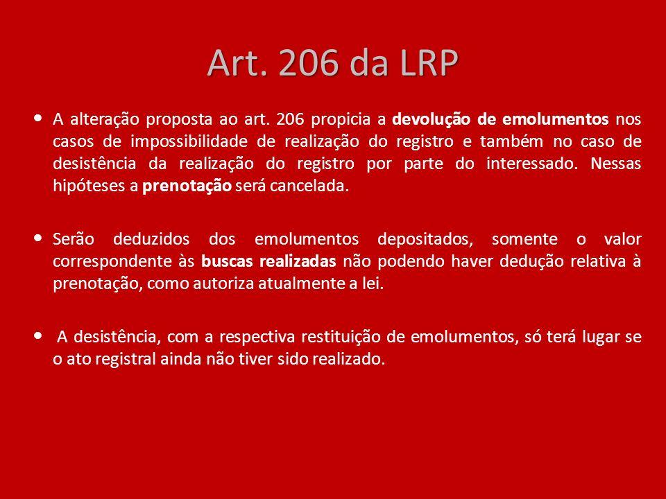Art. 206 da LRP