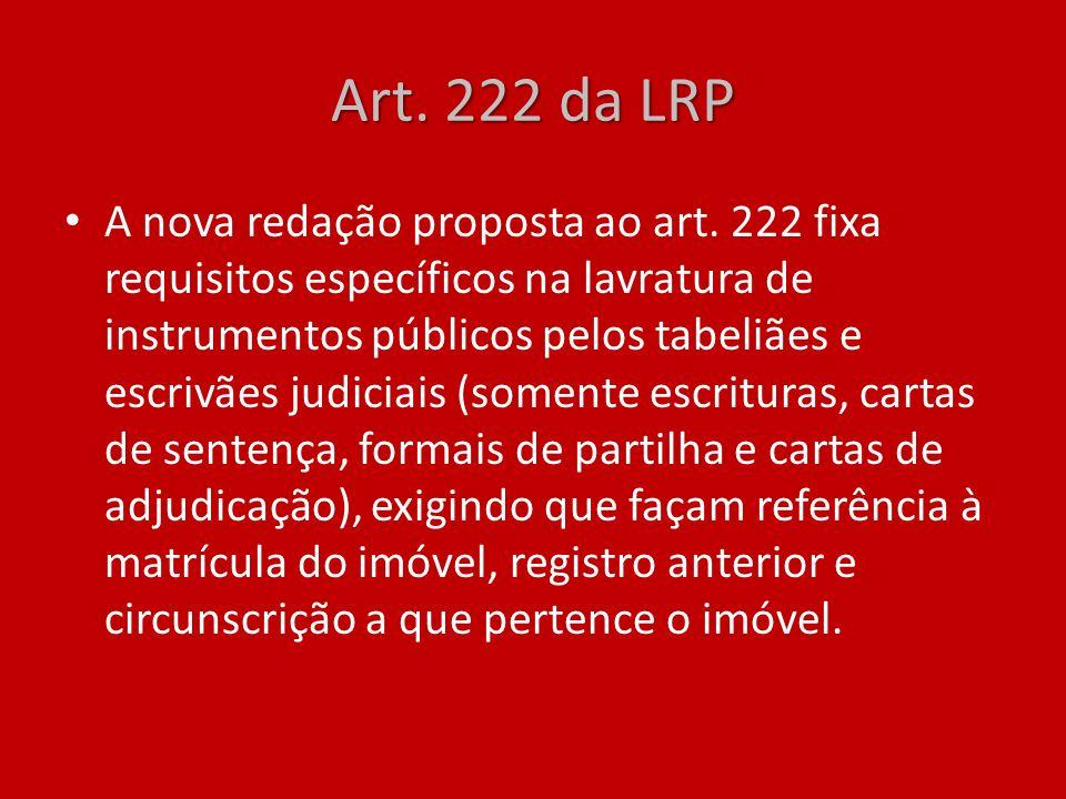 Art. 222 da LRP